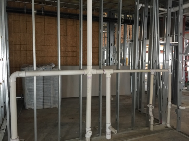 plumbing in a newly constructed home