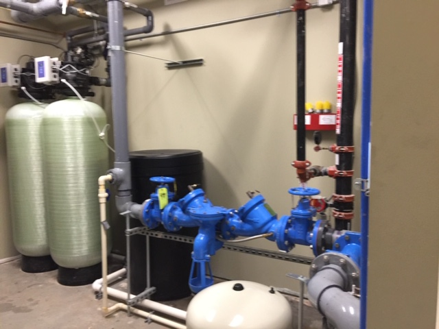 plumbing in a newly constructed building